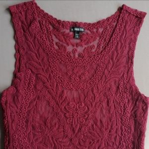 Express floral lace tank